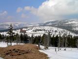 Zimowy poranek na Przełęczy Karkonoskiej