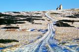 Zimowa droga do Stacji Przekaźnikowej